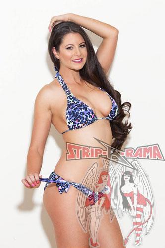 melbourne stripper holly fox in blue bikini